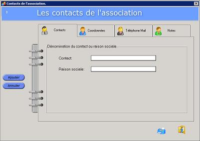 Les contacts de l'association